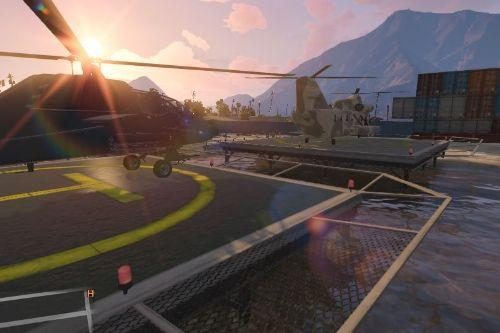 Heli Base With Anti-Air Defense ,Guards & Vehicles