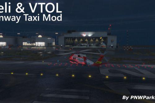 Helicopter and VTOL Runway Taxi