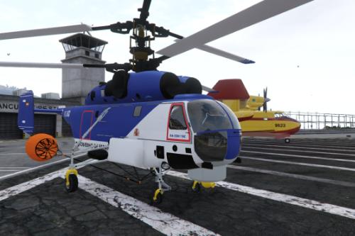 Helicoptero anti incendios forestales del MAGRAMA Gobierno de España Kamov KA-32A11BC Tenerife [Add-On | Working water]