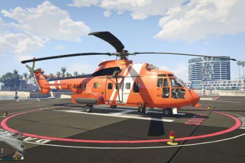 Helicoptero Super Puma de Salvamento Marítimo