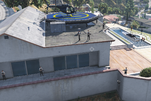High security mansion with private helipad + 4 strippers