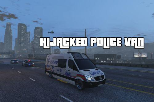 Hijacked Gang Graffiti Metropolitan Police Mercedes Sprinter (Dog Section)