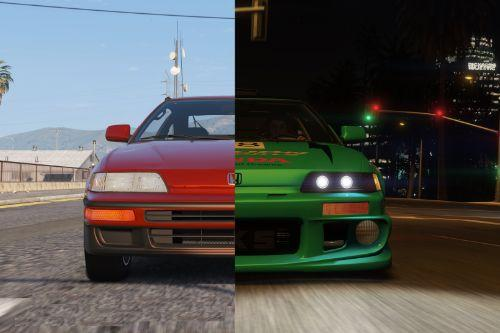 Honda CRX SiR 1991 [Add-On | Tuning | Template | LODs]
