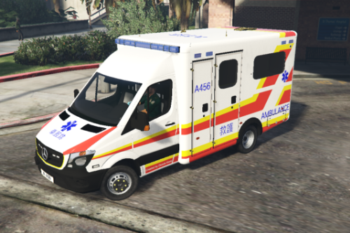 Hong Kong Ambulance (White version) 香港消防處救護車(白車)