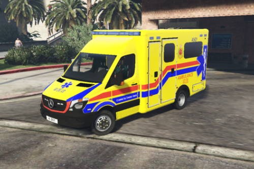 Hong Kong Ambulance (Yellow version A501+A456) 香港消防處救護車(黃車 A501+A456)