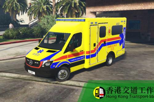 Hong Kong Ambulance (Yellow version A501+A456) 香港消防處救護車(黃車 A501+A456)