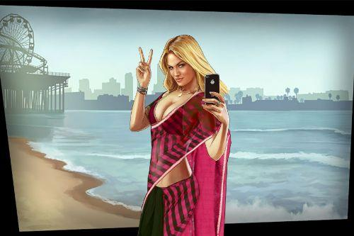 Hot Loading Screen Girl (In Indian Pink Saree)