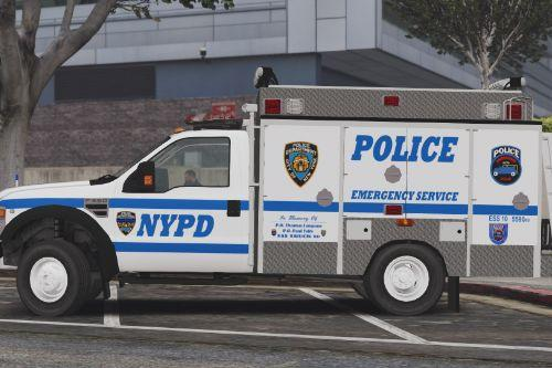NYPD ESU Emergency Service Squad 10 REP Ford F-550 with better Engine SFX