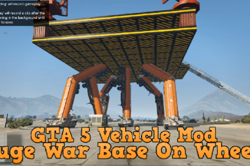 Huge War Base On Wheels [Menyoo]