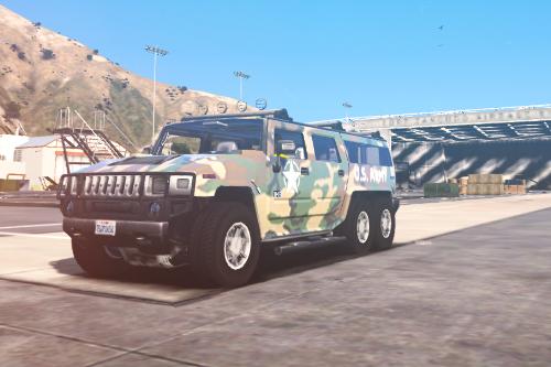 Humvee 6x6 Military Woodland Camo | Livery