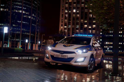 Hyundai i30 GD Police (Korean Police car)