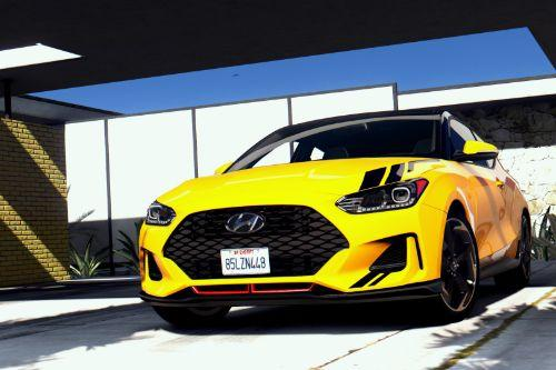 Hyundai Veloster JS 2018 (Black Roof & Tuix Decal Livery)