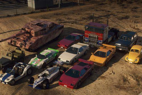 In-Universe Transformers Vehicles Remastered [Menyoo]