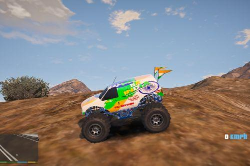 INDIAN FLAG RC Monster CAR 2020