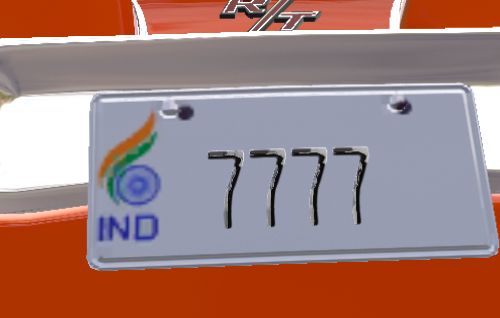 3402b5 india license plate