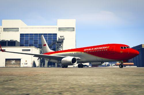 """Indonesian Government """"A-001"""" ( New Livery ) Boeing 737-800"""
