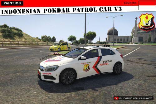 Indonesian POKDAR Patrol Car V3 Mercedes Benz AMG A45 | Pokdar Indonesia
