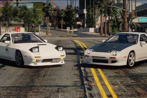 Initial D style tuning parts for 1990 Mazda SAVANNA RX-7 ∞ III (FC3S)