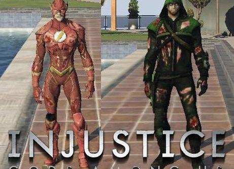 Injured Flash & Green Arrow (Injustice) [Add-On]