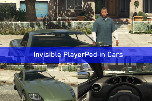 Invisible PlayerPed in Cars (Hide player in vehicles)