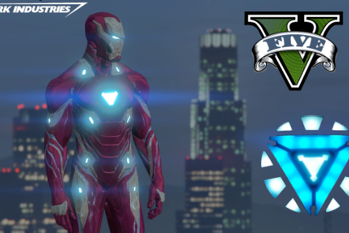 Iron Man Mark 50 WITH METALLIC EFFECTS(ADDED TONY STARK)