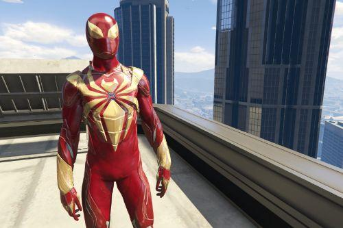 Iron Spider Armor PS4 (Metallic) [Add-on Ped]