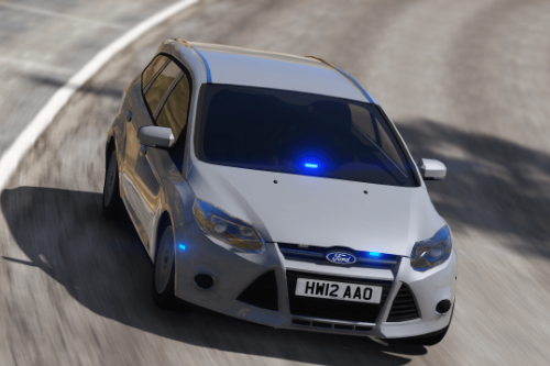 Isle Of Wight Fire & Rescue - Officer Car - Unmarked 2012 Ford Focus [ELS]