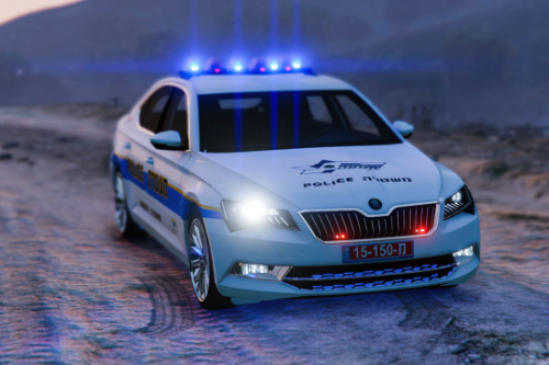Israel 2018 Skoda Superb | Traffic Police | PaintJob