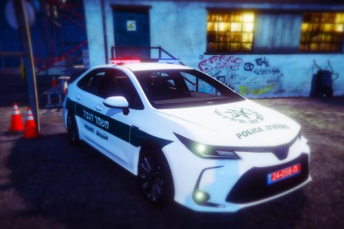 "Israel border Patrol   Toyota Corolla 2020   ניידת מג""ב"