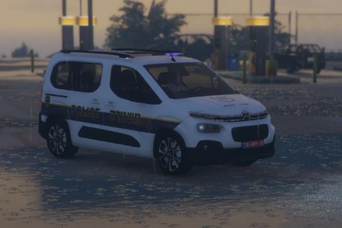 israel police citroen Berlingo 2020 |  ניידת סיטרואן ברלינגו | PJ