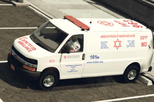 Ambulance Chevrolet Savana (Israel MDA)