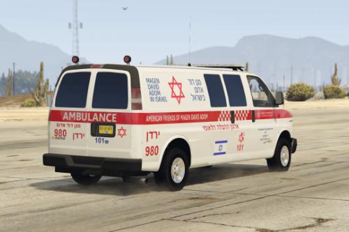 Israel MDA Ambulance EMS emergency 2020 | Chevrolet Savana אמבולנס
