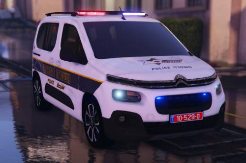 israel police citroen Berlingo 2020 |  ניידת סיטרואן ברלינגו משטרת התנועה | PJ