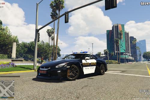 Israel Police Nissan GTR - شرطة اسرائيلية
