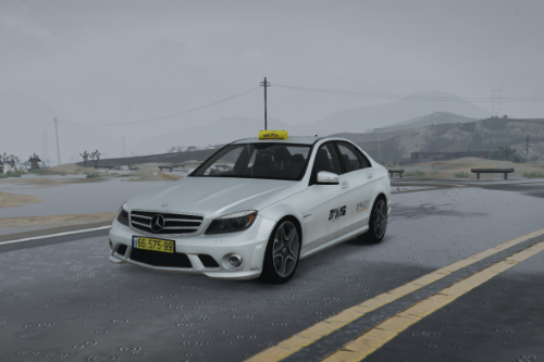 Israel taxi livery for Mercedes Benz C63 AMG | מרצדס בנז מונית ישראל