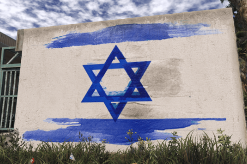Israeli Flag Graffiti