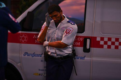 Israeli Paramedic Uniform  [MADA] HD |  דרגת סמג דרגת סגן מגן Vice