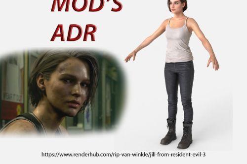 Jill Valentine Resident Evil 3 [Add-On Ped]