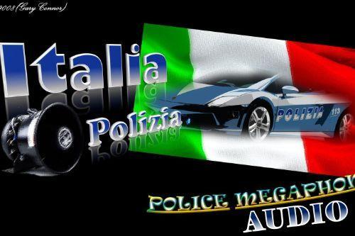 Italia PoliziaMegaphoneAudio
