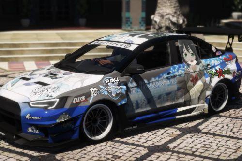 Itasha Paintjob for Lancer Evolution X (CZ4A) 4K