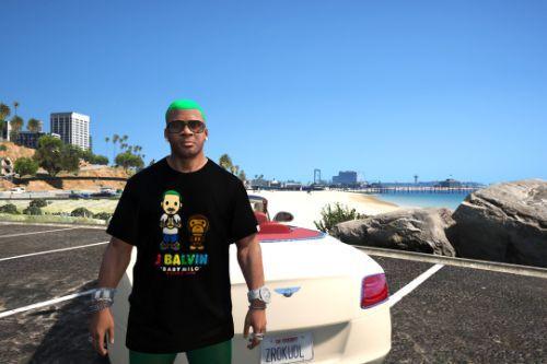 J.Balvin Baby Milo BAPE T-Shirt