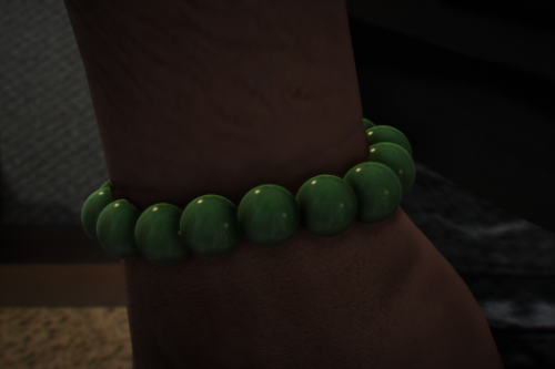 Jade Bead Bracelet for Franklin