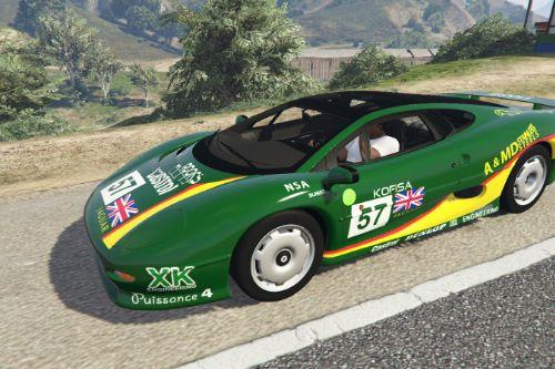Jaguar XJ220 1992-1994 - Green Racing Design [Paintjob]