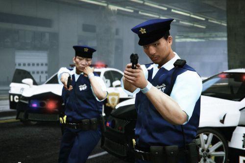 Japanese Police Officer MOD(Asian Face Skin, Japanese Voice)