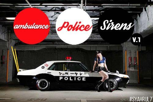 Japanese Sirens Police and Ambulance
