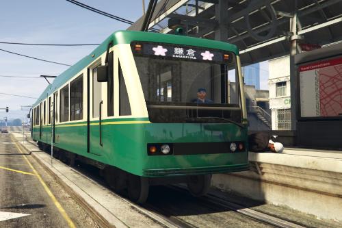 Japanese Tram Enoshima Railway