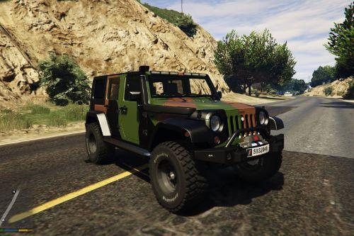 "Jeep wrangler 2014 french ""armée de terre"""
