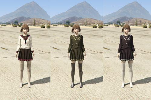 JK School Uniform Style Girl[Add-on]