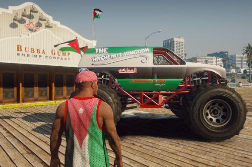 Jordan Flag Monster Truck Paintjob