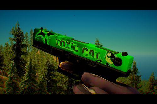 "Jridah Glock 18C ""Toxic Cat"" Weapon Skin (Works on FiveM and SP)"